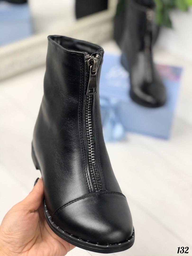 Ботинки для девочек демисезонные из натуральной кожи