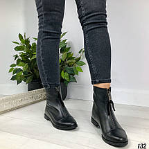 Ботинки для девочек демисезонные из натуральной кожи, фото 2