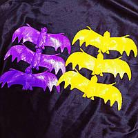 Летучая мышь черная, 6 шт в наборе, декорации на Хэллоуин