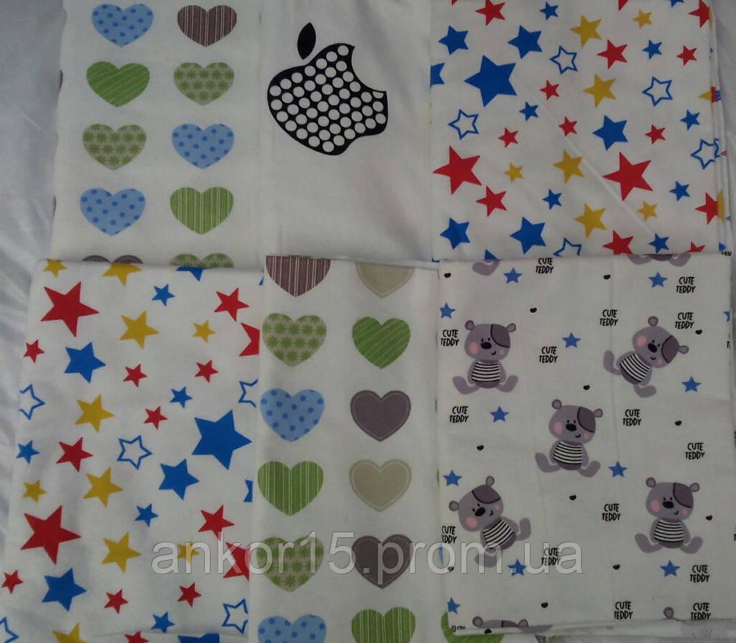 Комплект нежные байковые пеленки (5 шт) для девочки