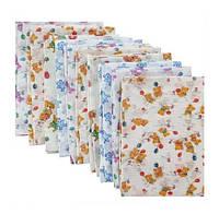 Набор ситцевых пеленок (10 шт) для мальчика