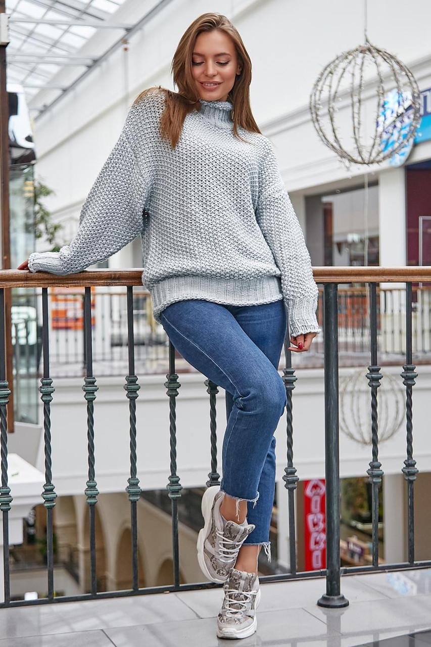 Классический вязаный женский свитер S070 (42–48р) в расцветках, фото 3