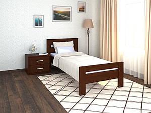 Кровать односпальная с ламелями Селена 90х200 (дерево) Летро