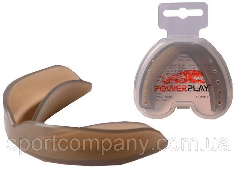 Капа боксерская Power Play 3305 (взрослая, серый)