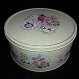 """Коробка подарункова """"Шматочок пирога"""" з жерсті, h-11 см 60 грн, фото 6"""