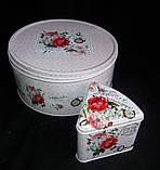 """Коробка подарункова """"Шматочок пирога"""" з жерсті, h-11 см 60 грн, фото 7"""