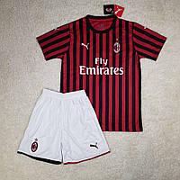 Футбольная форма Милан сезон 2019-2020 основная красно-черная