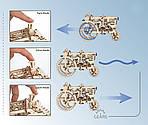 Трактор | UGEARS | Механический 3D конструктор из дерева, фото 2