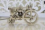 Трактор | UGEARS | Механический 3D конструктор из дерева, фото 4