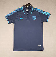 Футболка поло Барселона  2019-2020 темно-синяя