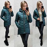 Женская куртка-парка, арт 300, цвет бутылочный
