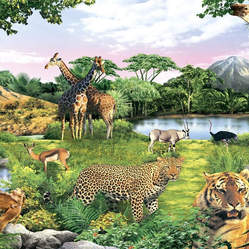 Фотообои, зверы, природа, Оазис Доверия, 18 листов, 210х290см