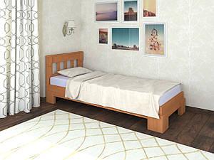 Односпальная кровать с ламелями Ярина 90х200 (дерево) Летро