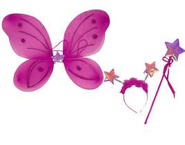 Карнавальный костюм набор бабочки - крылья 50х36 см малиновый