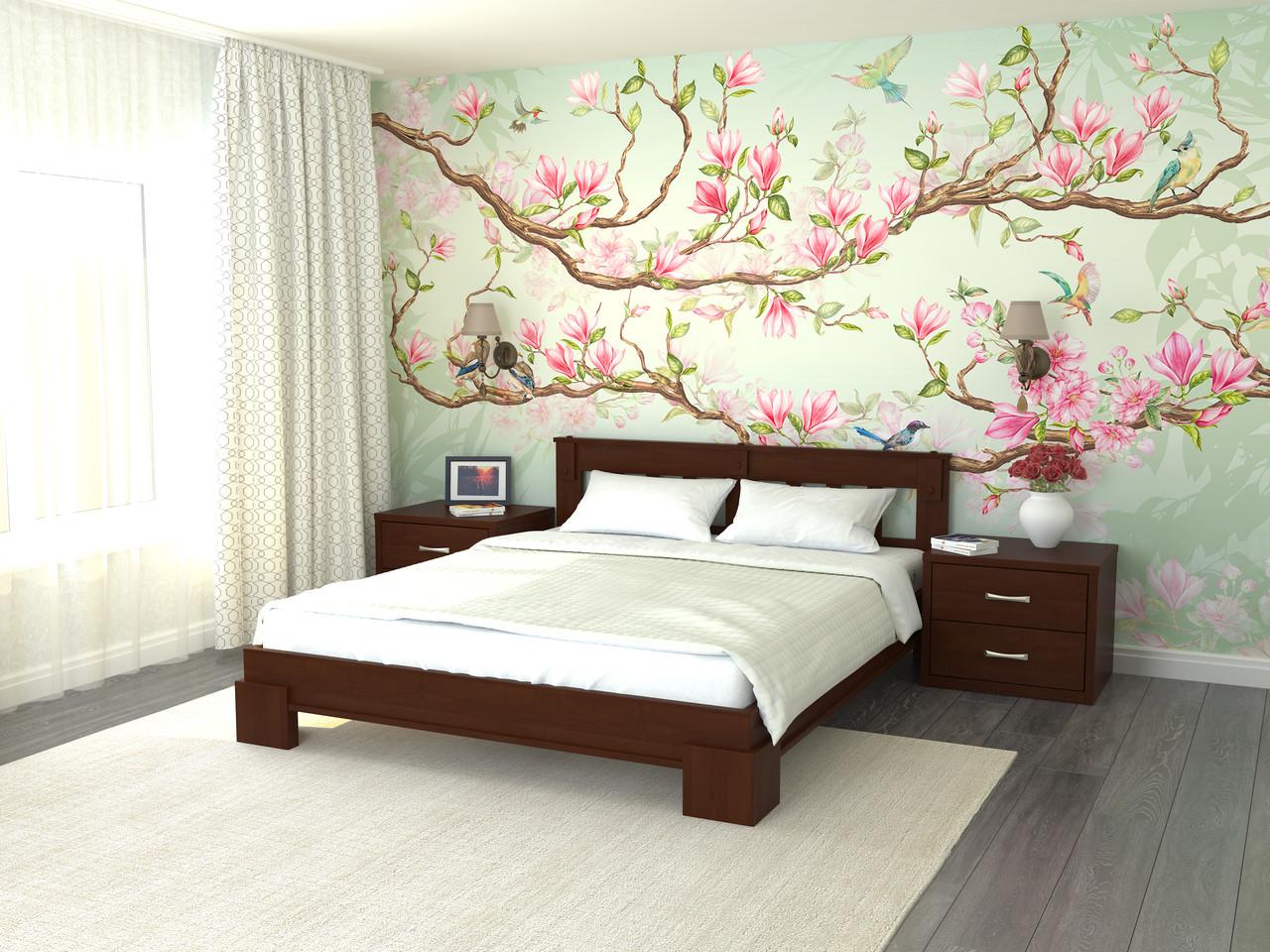 Двуспальная кровать с ламелями Ярина (дерево) 160х200см Летро