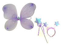 Карнавальный костюм набор бабочки -крылья 50х36 см сиреневый
