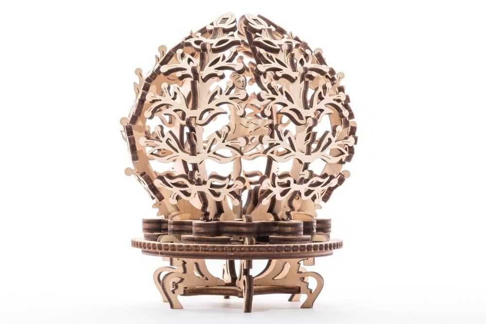 Цветок-шкатулка | UGEARS | Механический 3D конструктор из дерева