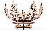 Цветок-шкатулка | UGEARS | Механический 3D конструктор из дерева, фото 3