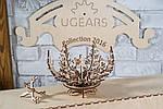 Цветок-шкатулка | UGEARS | Механический 3D конструктор из дерева, фото 4