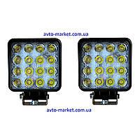 Комплект светодиодных фар WL-D6 MINI 48W EP9 SP (возможность установки как ДХО или противотуманных фар)