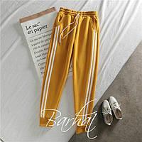 Женские стильные штаны на флисе