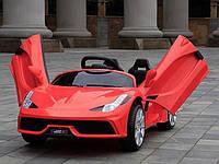 Детский электромобиль Ferrari КХ 8282, на резиновых колёсах, кожаное сиденье, дитячий електромобіль Феррари