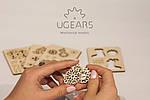 Фиджеты-Рождественники. Набор из 4 шт | UGEARS | Механический 3D конструктор из дерева, фото 2