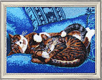 Набор для вышивания бисером Спящие котята БФ 582