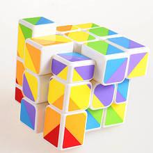 Кубик рубик Радужный 3х3 Белый Smart Cube