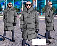 Куртка мужская зимняя длинная, с 44 по 58 размер, фото 1