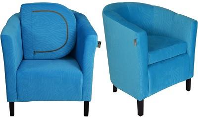 Кресло Бафи голубое - картинка