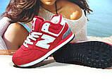 Кроссовки женские зимние New Balance 574 (реплика) красные 36 р., фото 2
