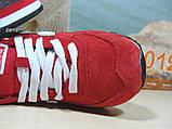 Кроссовки женские зимние New Balance 574 (реплика) красные 37 р., фото 8