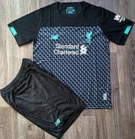 Детская футбольная форма Ливерпуль сезон 2019-2020 резервная черная, фото 1
