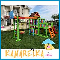 Уличные деревянные детские спортивные комплексы Маугли