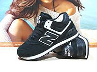 Женские кроссовки зимние New Balance 574 (реплика) черные 41 р., фото 1