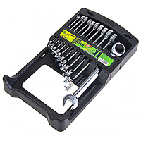 Набор ключей комбинированных Alloid, трещоточных, 11 предметов, 8-19мм (НК-2081-11)