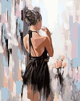Картины по номерам 40×50 см. Девушка и розы Художник Гунин Александр, фото 1