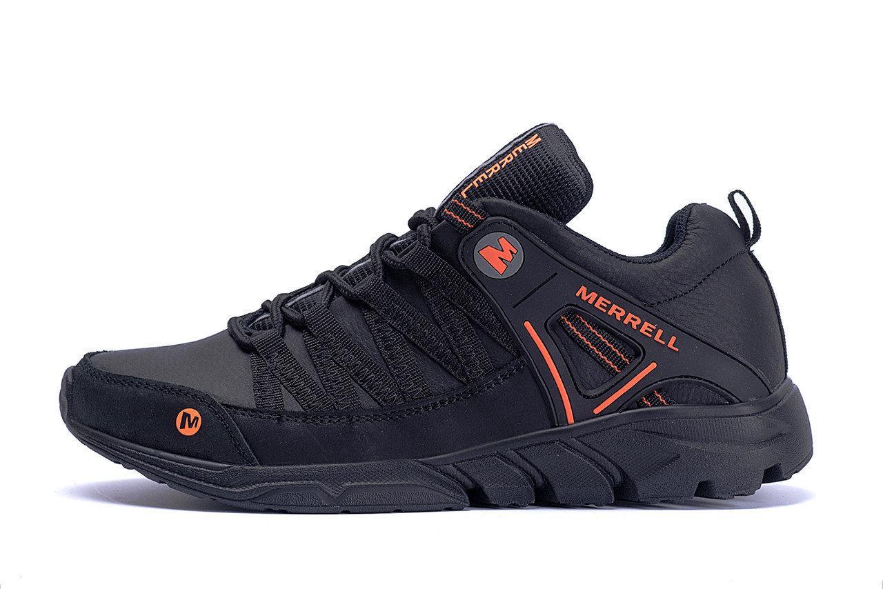 Чоловічі шкіряні кросівки чорні Merrell Tracking р. 42 43 44 45