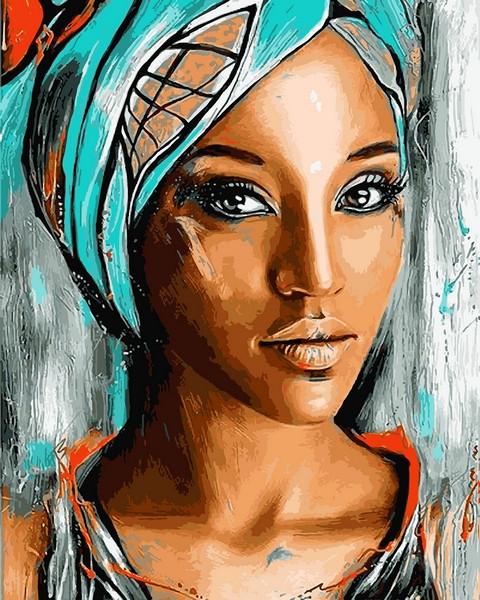 Картины по номерам 40×50 см. Восточная красавица Художник Siena Summers