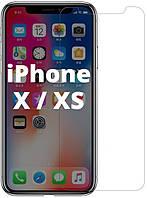 Защитное стекло iPhone X / XS (Прозрачное 2.5 D 9H) (Айфон Х Икс 10)