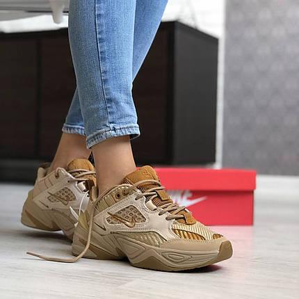 Женские кроссовки в стиле Nike M2k Tekno Brown, фото 2