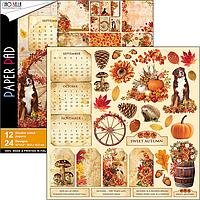 Набор двусторонней бумаги от Ciao Bella — Sound of Autumn, 30,5x30,5 см, 12 листов