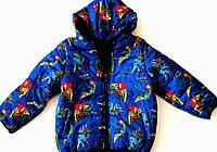Куртка на флисе для мальчика, тёплая куртка для мальчика, куртка с динозаврами