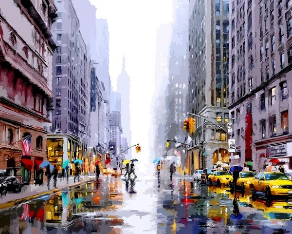 Картины по номерам 40×50 см. Нью-Йорк Художник Ричард Макнейл