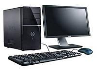 Компьютер в сборе, Intel Core 2 Quad 4x2.4 Ггц, 2 Гб ОЗУ DDR2, 80 Гб HDD, монитор 22 дюйма, фото 1