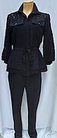 Костюм брючный  женский черный, пиджак с брюками, Турция, фото 1