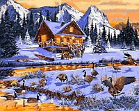 Картины по номерам 40×50 см. Гуси в ручье Художник Ричард Макнейл