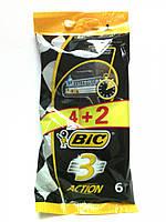 Станок для гоління BIC ACTION 4+2шт чорний (1*6/1)
