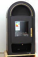 Каминофеня - кафельная печь камин на дровах c водяным рубашкой Haas+Sohn Grand Max Plus 2/11 Золотая.